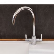Reginox Genesis Kitchen Tap - Chrome with white ceramic handle